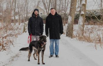 Dog hiking trail at Parc de l'Arabesque