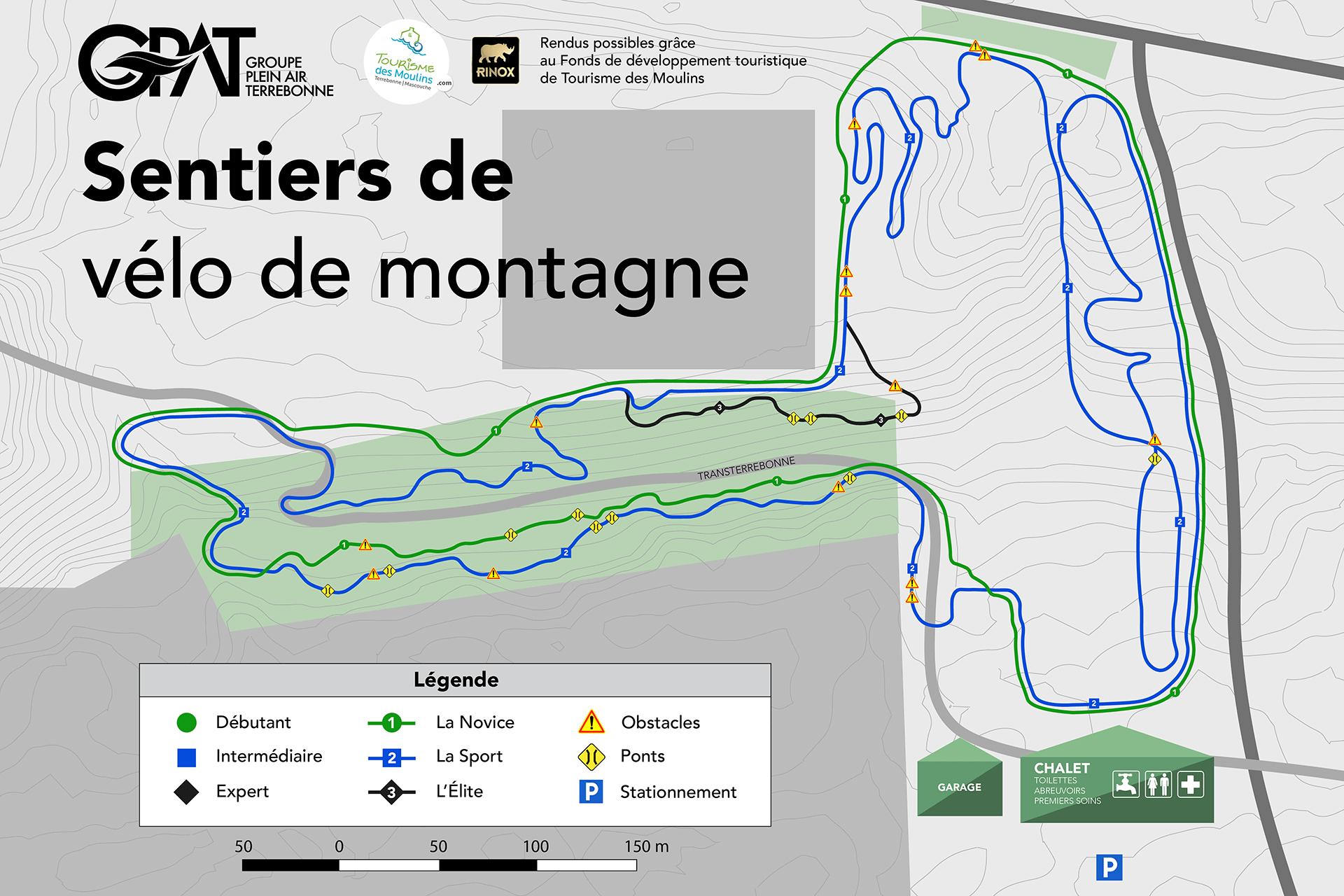 carte sentiers velo montagne