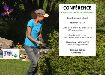 Conférence sur le calendrier horticole printanier